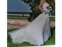 White wedding dress size 8