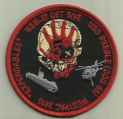 WESTPAC 2015 U.S.NAVY PATCH HSM-37 USS PREBLE DDG 88 DESTROYER HELICOPTERS USA