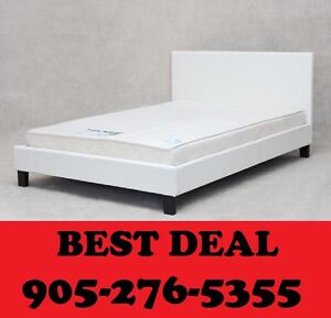 WHITE FAUX LEATHER BED SINGLE,DOUBLE OR QUEEN $199.00