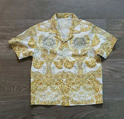 Genuine Young Versace Cotton Baroque Shirt 6-7 years Made in Milano Italy