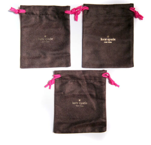 "Lot of 3 KATE SPADE Medium Brown Jewelry Pouch for Bracelet/Necklace 6""x5"""