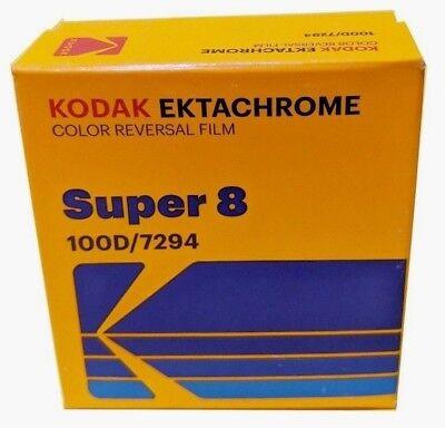 KODAK EKTACHROME SUPER 8 100D COLOR REVERSAL FILM / 7294 *BRAND NEW!* FRESH