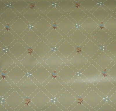 - Vintage 1960s WALLMATES Vinyls USA Wallpaper BEIGE & BLUE FLORAL 56 sq ft Roll