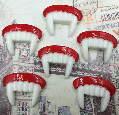 5/25/50/100 Halloween Vampire teeth Flatback Resin Cabochon Scrapbooking/Crafts](100 Halloween)