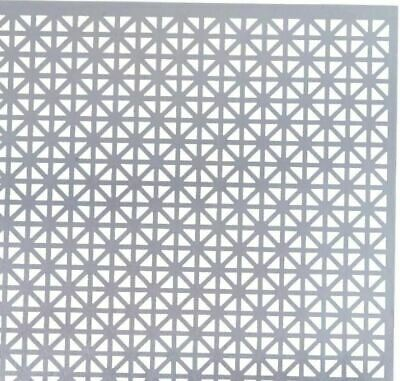 """Decorative Aluminum Sheet Metal Perforated 12"""" Square Craft Project Vent Cover"""