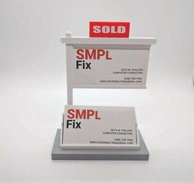 Real Estate Business Card Holder-business Card Displaybusiness Card Holder-gray