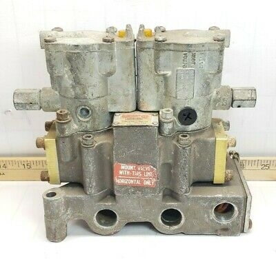 Schrader Bellows Double Solenoid Piloted Valve L6553810253 W Sub Base K022-091