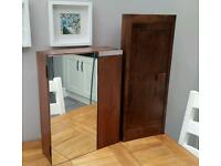 Two Solid Wood Bathroom Cabinets Next, Dakota , one corner, one flat,Ex Cond.