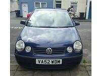 VW polo, 1.4, 2002, dark blue