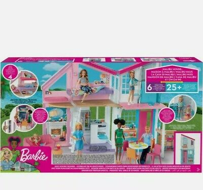 Barbie Estate Malibu House Playset With 25 Plus Themed Accessorie 3 Years And Up