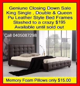 New Double/Queen Pu Leather Style Bed Frame Price slashed to $195