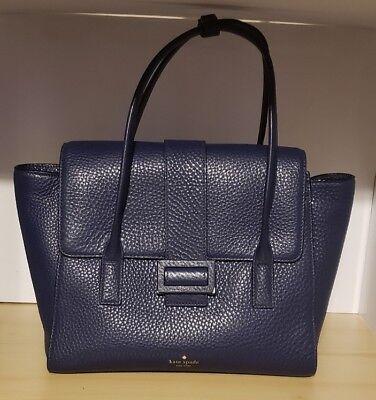 (Kate Spade New York Carlyle Street Alexa Blue Ridge Pebbled Leather Satchel)