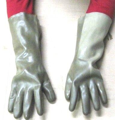 10 p. Latex Gummihandschuhe NVA Handschuhe ABC Schutzanzug Chemie Fetisch Maske