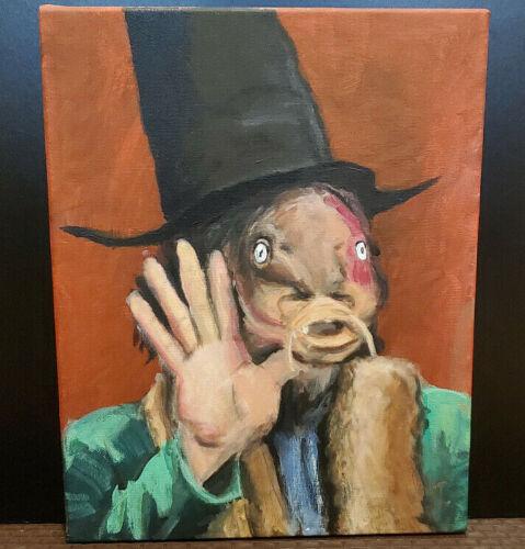 Captain Beefheart Trout Mask Replica Outsider Folk Art Original Painting