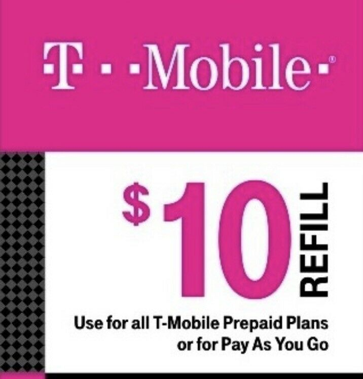 T-Mobile  Prepaid $10 Refill Top-Up FAST Direct Refill SUPER SALE PRICE DROP!!!