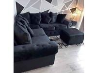 🔵💖🤍AMAZING OFFER🤍💖🔴Brand New Merilyn Plush Velvet 3+2 / Corner Sofa / Swivel Chair / Footstool