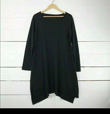 Eileen Fisher Womens Soft Tunic Black Knit dress sz L