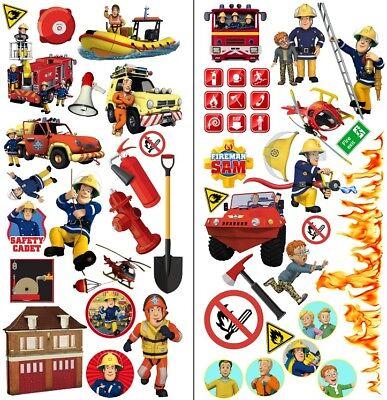 Feuerwehrmann Sam Wandtattoo Fireman Sam wall stickers Wandaufkleber 35cmX70cmx2 (Fireman Tattoo)