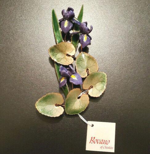 Bovano of Cheshire Enamel on Copper Flower Iris Wall Art