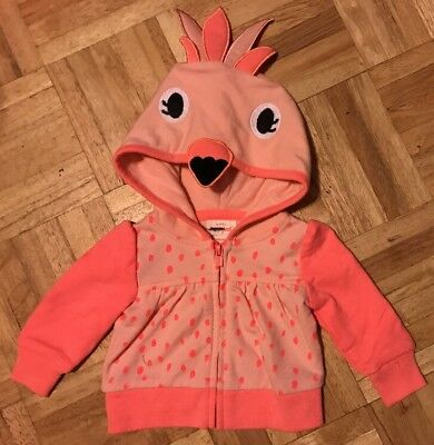 Light Up Baby Costume (Cat & Jack Nb Newborn Light Jacket Hoodie Costume Cover Up Flamingo Baby)