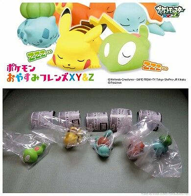 Tomy Pokemon XY&Z Oyasumi Friends Sleeping Pose Figure Gashapon full set x5