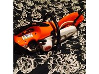 Stihl saw TS 410 new version with diamond blade and hose privately used