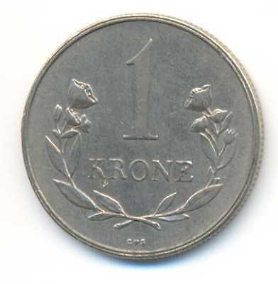 Greenland Copper-Nickel 1 Krone 1960 XF