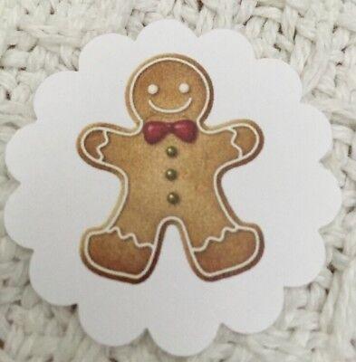 **60**  Gingerbread Man Christmas 🎄 Gift Tags Favor Tags Handmade