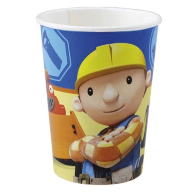 24x Bob the Builder Paper Cups. 250ml. New. Boys birthday party.
