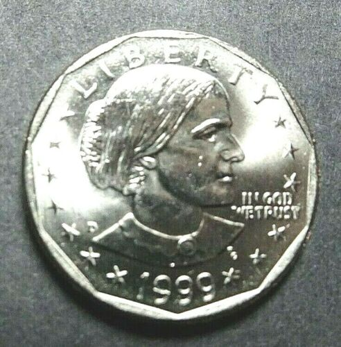 "1999-D (SBA) SUSAN B. ANTHONY $1 DOLLAR ""BU"" UNCIRCULATED STOCK PHOTO"