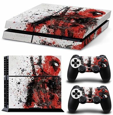 Skin Decal Cover Sticker for Sony PS4 Slim -marvel  Deadpool 03 free shipping