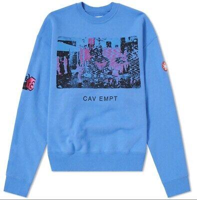 CAV EMPT CARD 17 Streetwear Pullover Blue Sweatshirt Size Medium