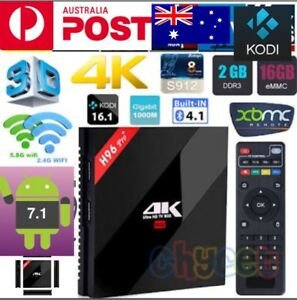 H9-6 PRO PLUS 2/16GB ANDROID 7 TV BOX S912 DUAL WIFI BT NETFLIX 4K Hallam Casey Area Preview