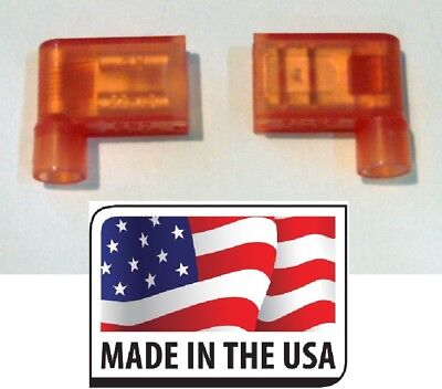 "100 Nylon 22-18 Gauge .250"" QC Fully Insulated Female Flag Push-On Connector USA"
