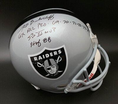 Fred Biletnikoff SIGNED Oak Raiders F/S Helmet + SB XI MVP PSA/DNA AUTOGRAPHED