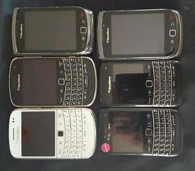 6 blackberry phones