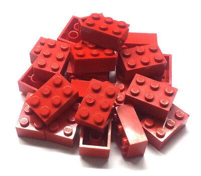 25x LEGO® Stein Rot Basic 2x3 Noppen Grundstein K89