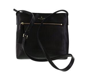Kate Spade Dessi WKRU4073 - Black Leather - Crossbody Bag   eBay 12adefb4c3