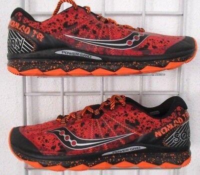 Men's Saucony  Nomad TR Sneakers, New Orange Blk Mesh Sport Running Shoes Sz 12 (Saucony Sport Shoes)