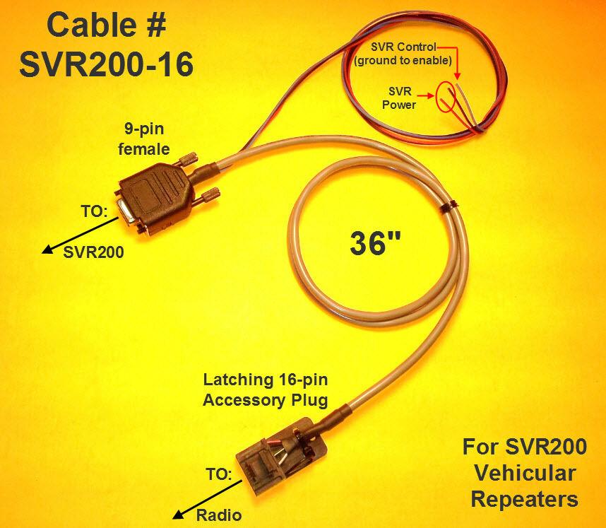 diagram, pyramid repeater cable svr200 - 16 pin motorola radius maxtrac  m1225 on motorola xpr 6350 wiring