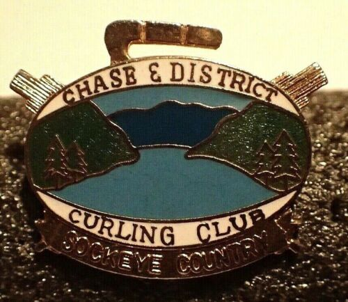 Curling Club Pin - Chase & District Curling Club Sockeye Country