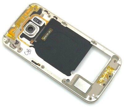 Gold Frame (Original Samsung Galaxy S6 Edge G925F Gehäuse Rahmen Mittelrahmen Frame Gold)
