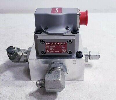 Moog G761-3018b Electro-hydraulic Servo Valve W Daman Hydraulic Manifold