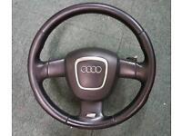 AUDI A3 S LINE PADDLE SHIFT LEATHER STEERING WHEEL & AIRBAG