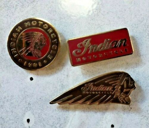 Indian Motorcycles® ENAMEL 3 PIN COLLECTION Warbonnet, ICON Chief & RED NEW SAVE