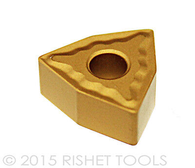 Rishet Tools Wnmg 432 C5 Multi Layer Tin Coated Carbide Inserts 10 Pcs
