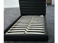 double leather stylish bed