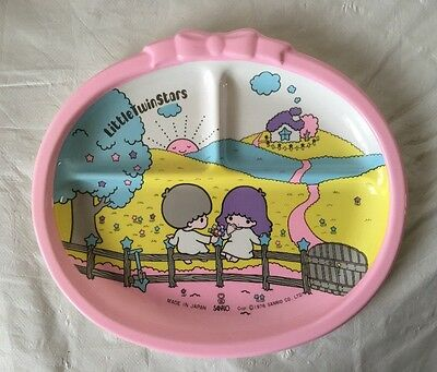 Vintage 1976 Sanrio LITTLE TWIN STARS Dessert Plastic Tray /Collectible / UNUSED