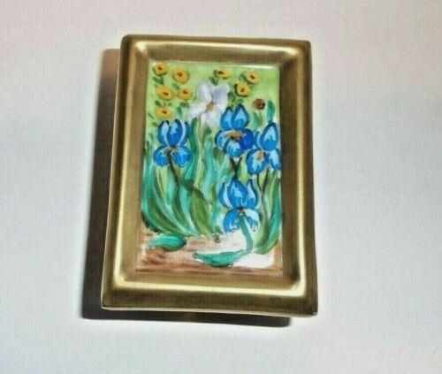 Peint Main Limoges Trinket-A Van Gogh Floral Painting