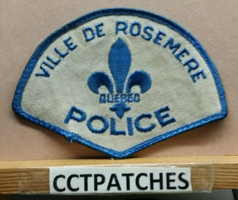 VILLE DE ROSEMERE QUEBEC, CANADA POLICE SHOULDER PATCH